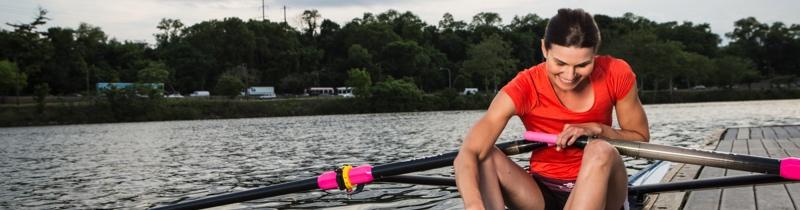 Cara Stawicki rowing