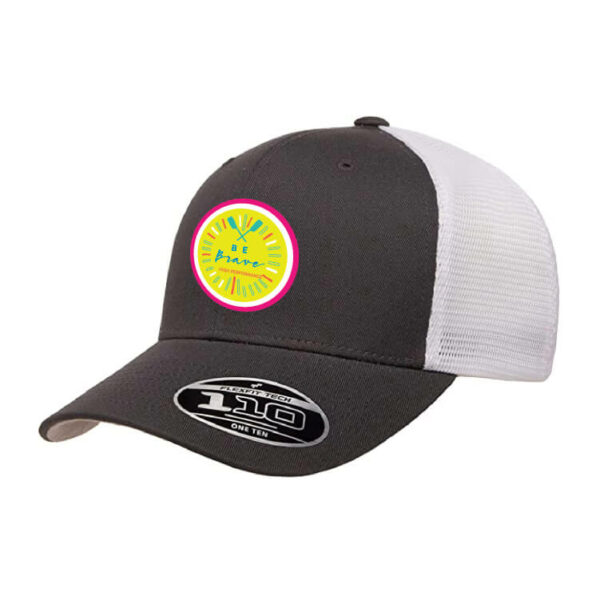 Be Brave Hat in charcoal