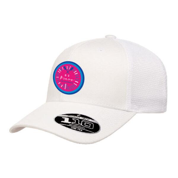 Be Brave Hat in white