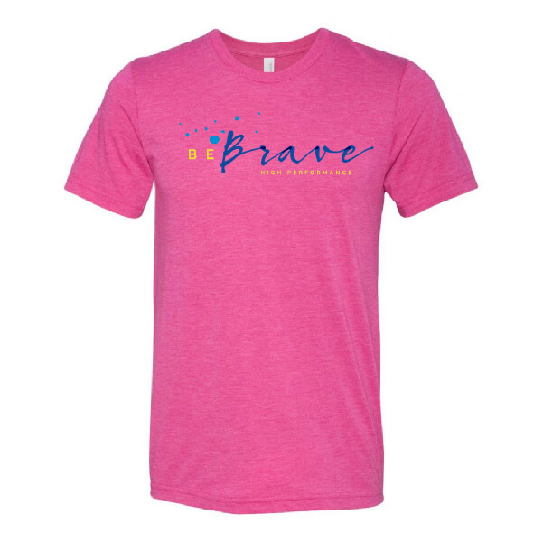 Be Brave Classic Tee, Berry Triblend