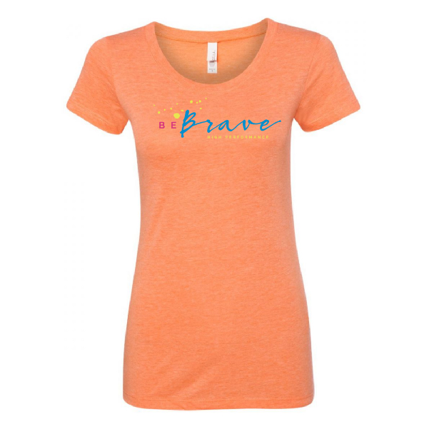 Be Brave Classic Tee, Women's Fit, Orange Triblend